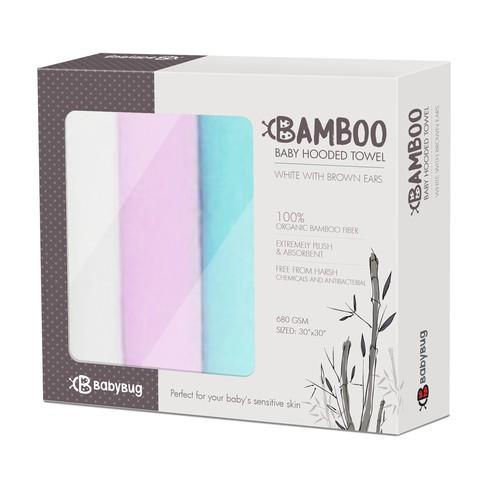 Bamboo baby hooded towel