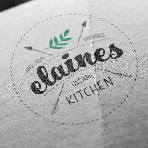 Logo concept for healthy food