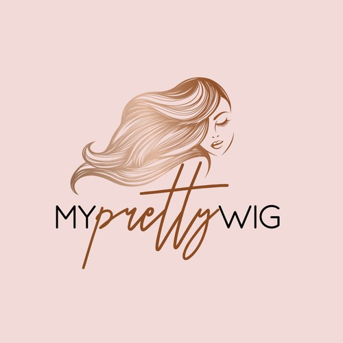 Feminine logo for high-end wigs brand