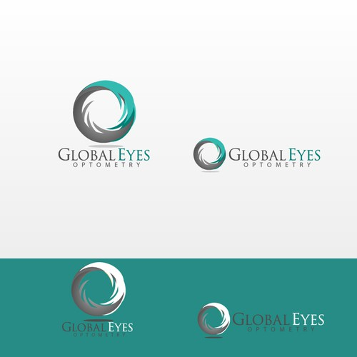 Create the next logo and business card for Global Eyes Optometry