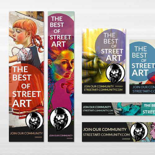 GIF banners for StreetArt Community
