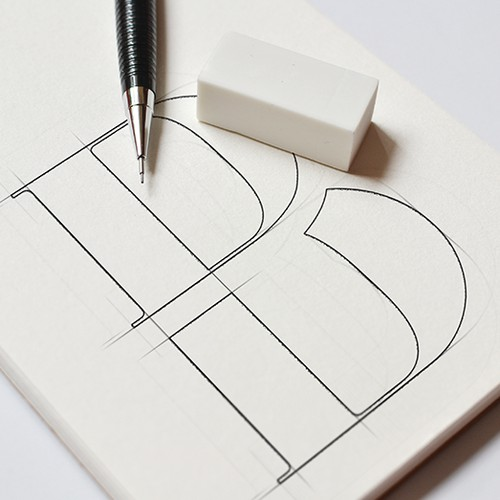 Elegant monogram logo design for a interior design company