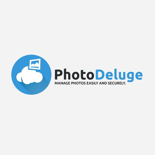 Create the logo of our new service PhotoDeluge.com