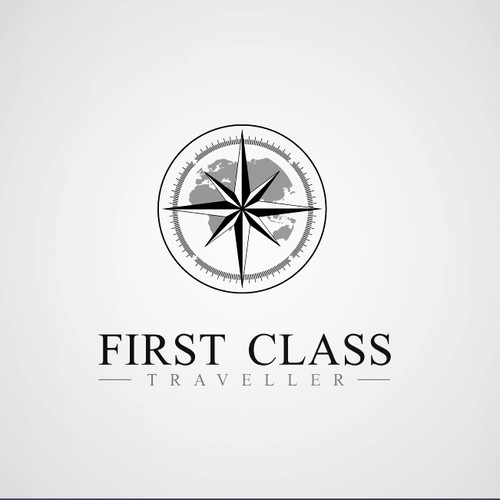 Logo and Business Card for First Class Traveller