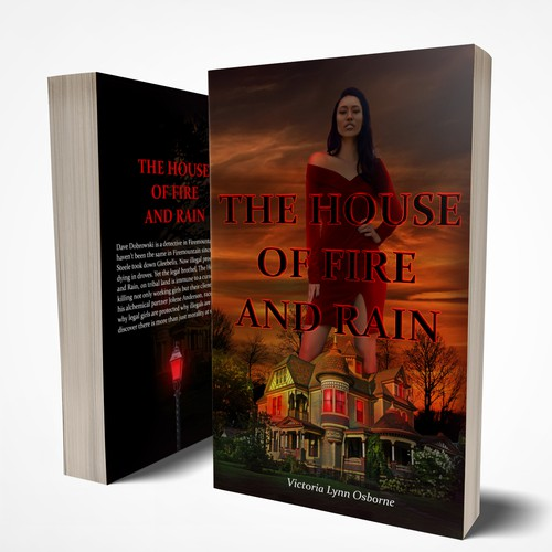 The House of Fire and Rain Book Cover Design