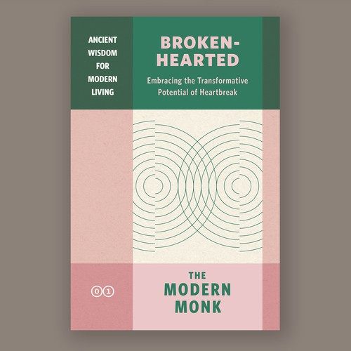 Book design for a series, with colour coding as distinctions