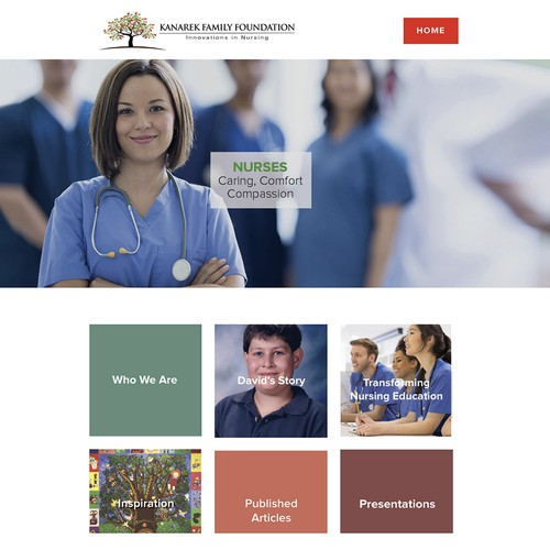 Non-Profit Healthcare Awareness Squarespace website and logo design