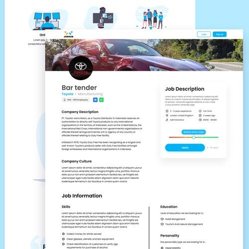 UI Concept for JobHub