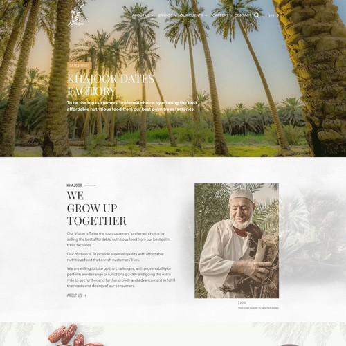 Design Attractive & Creative website for Dates fruit & shows beauty of Palm tree & Al Hasa Oasis in Saudi
