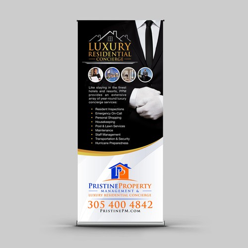 Sleek Show Banner for a Miami Luxury Residential Concierge company