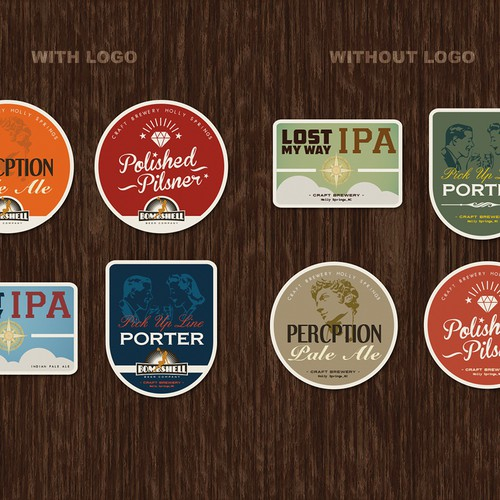 Create the next product label for Bombshell Beer Company