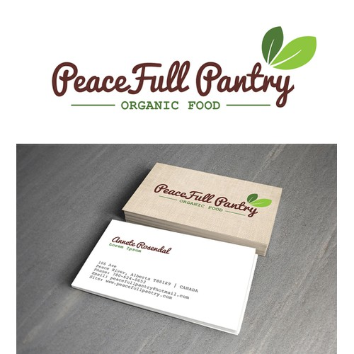 PeaceFull Pantry - an organic and natural foods buying club -needs it first ever logo and business card