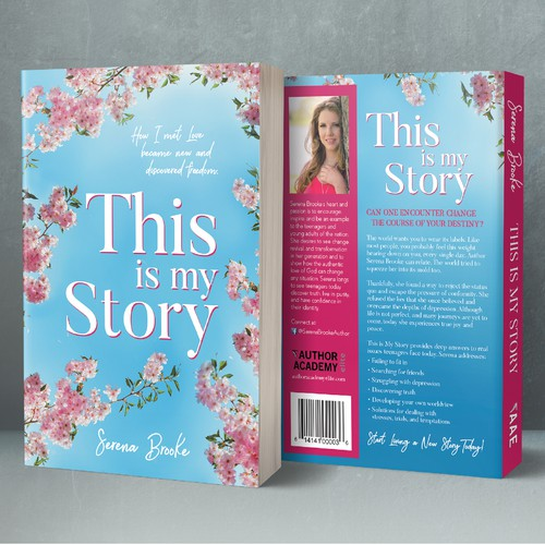 "A book cover design for ""This is my story"""