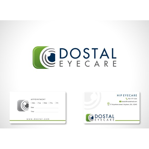 dostal  eyecare  needs a new logo and business card