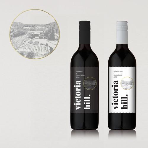 Label for wine bottle