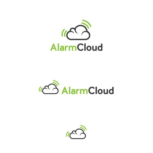 Modern Logo for AlarmCloud