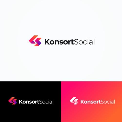 letter K S logo
