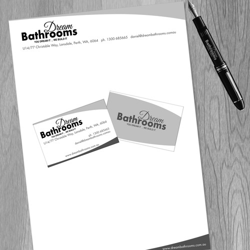 Help Dream Bathrooms  with a new stationery