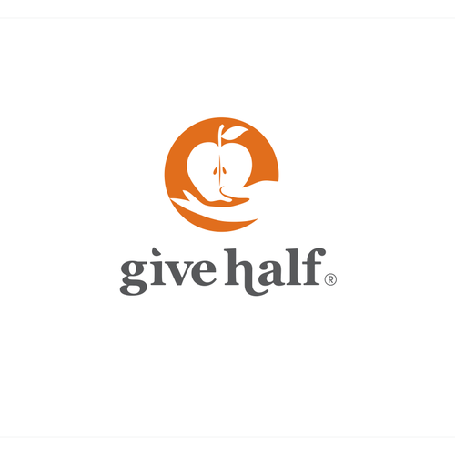 Create the logo for GiveHalf, a new social mission startup!