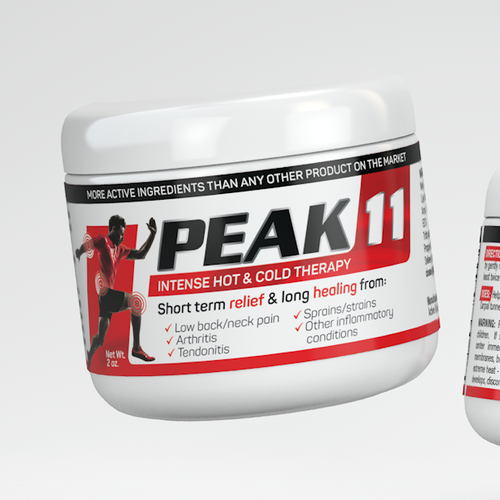 Label design for sports pain - relief cream