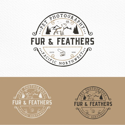 Logo for a pet photographer