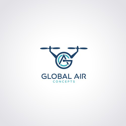 Drones are people too! Clean, modern logo design for commercial drone company