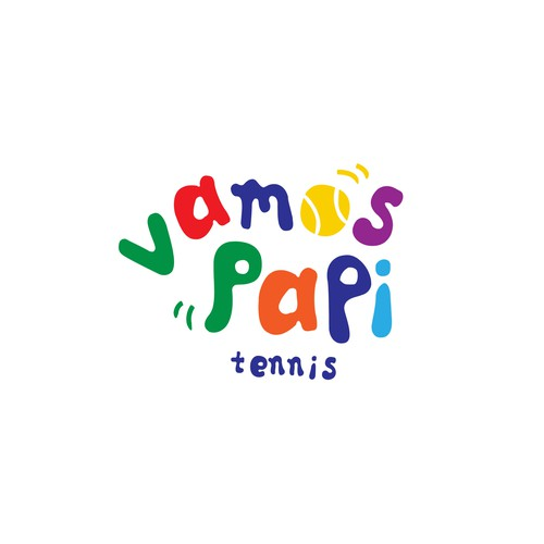 Logo for a tennis school for children