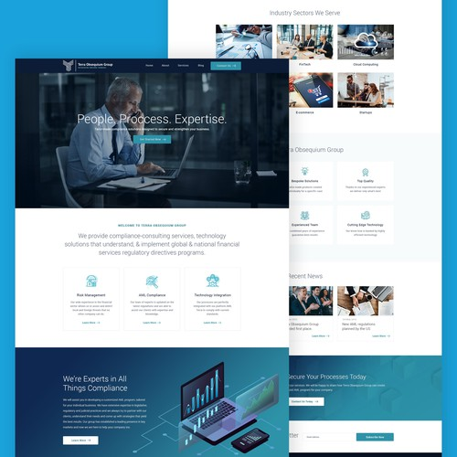 Web Design for AML Compliance Company