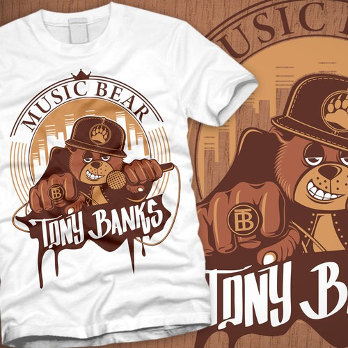 Music Bear T-shirt for Hip-Hop Artist