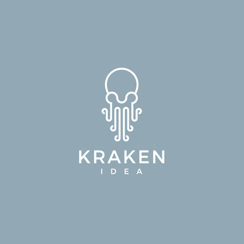 Bold logo concept for Kraken Idea