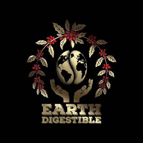 Earth Digestible emblem illustration.