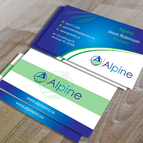 Professional Business Cards for Alpine Inc