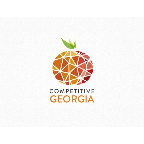 Create a logo using the state of GA as the main image underlying theeconomic strength of diversity