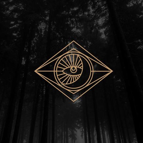 Geometric mystic jewelry designer logo