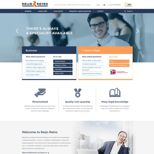 Modern Website for Collection Agency