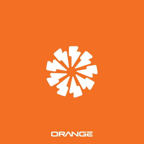 Orange Electric Vehicle