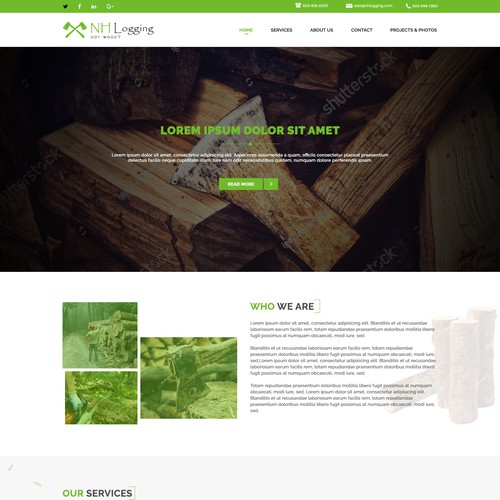 Log Cutting website and logo