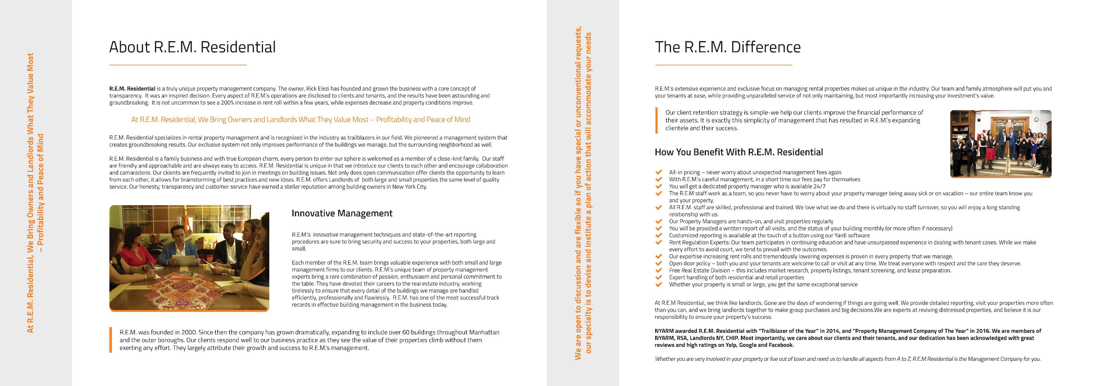 R.E.M. Residential Brochure