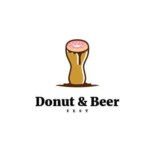 Donut & Beer Logo