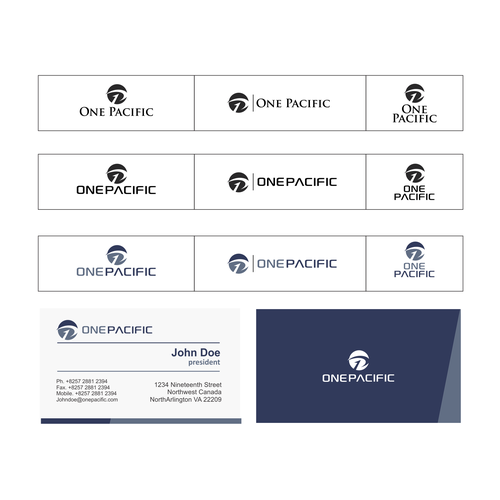 "Invoke financial confidence in a logo for ""One Pacific"" ( 1P )"