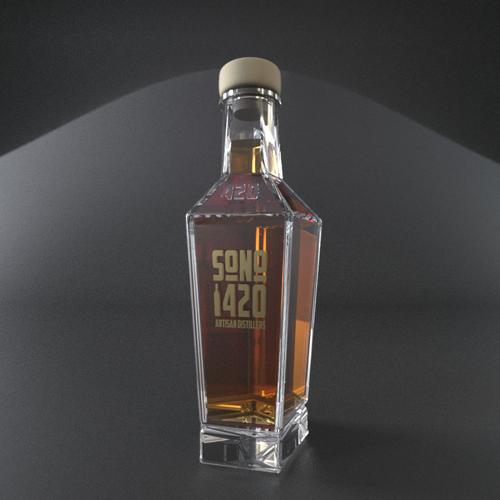 Luxury liquor bottle
