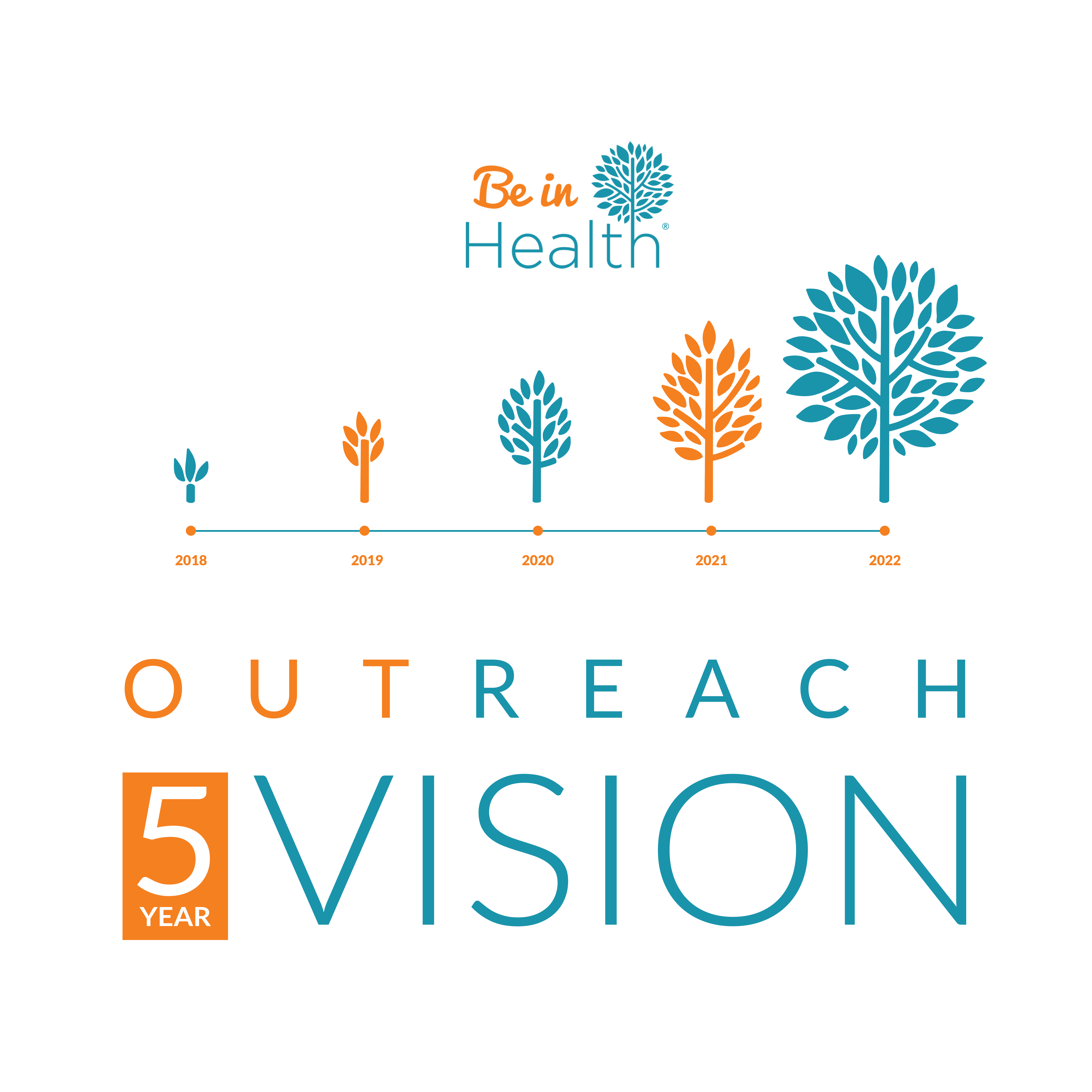 Descriptive, yet simple graphic for our 5 year vision campaign