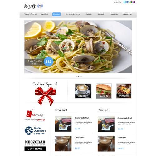 web design for Promote a restaurant