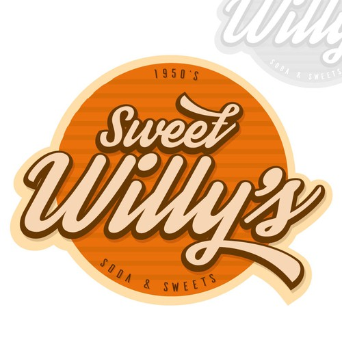 Logo based on the style of the 50s, for cafeteria