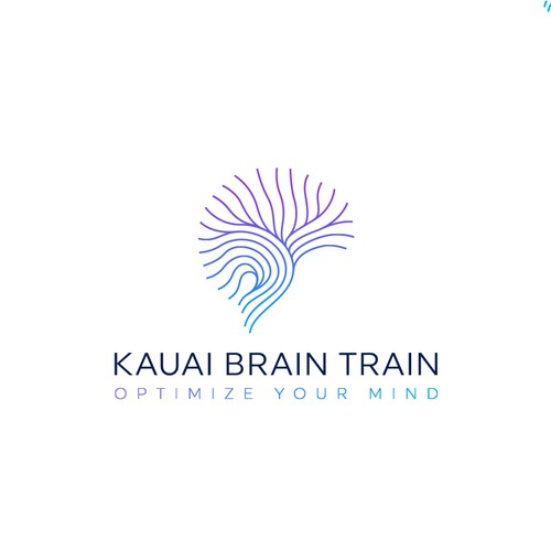 Luxury logo for a neurofeedback business in Hawaii