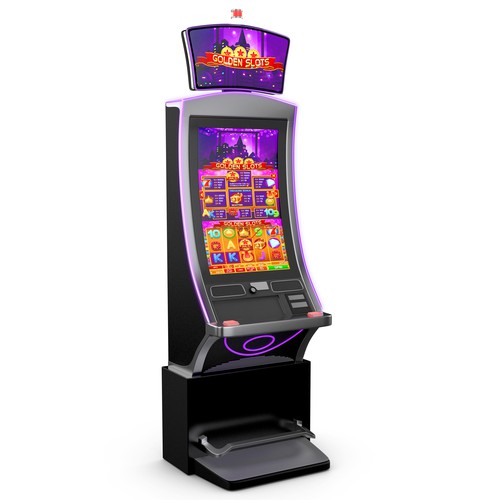 Slot machine 3D image for product catalog
