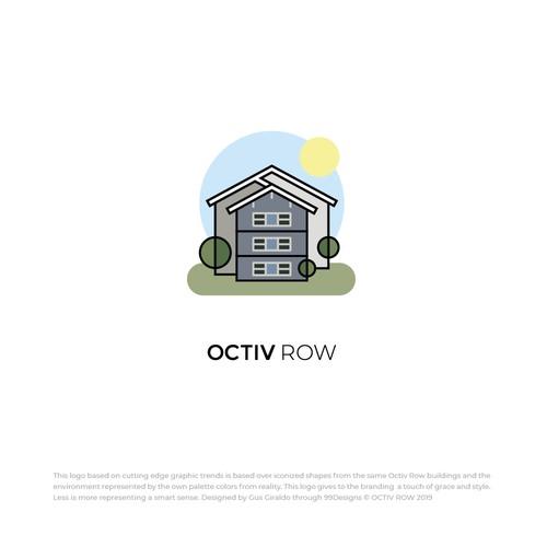 Octiv Row Logo Design