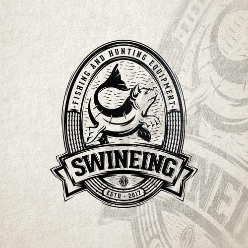 Retro, but whimsical logo for Swineing