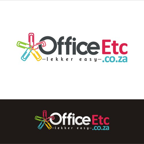 colorful logo for stationery office