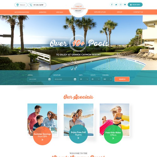Grande Cayman Resort website design